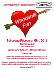 Rob Macleod's Capitol Players Whodunit Fun Valentine Theatre